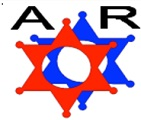 AR Services logo in red and white color